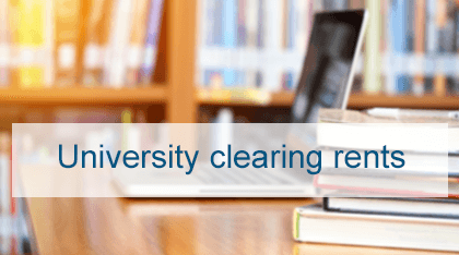 University Clearing Rents